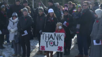 Thanking veterans at Waterloo's Remembrance Day ceremony. (Nov. 11, 2017)