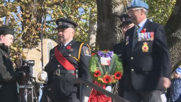 Sgt. Harold Wilfred Shaghnessy was honoured at a Remembrance Day ceremony in St. Stephen, N.B., Saturday Nov. 11, 2017.