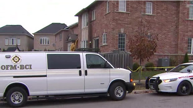 The coroner is on the scene of a fire at a home in Ajax overnight.