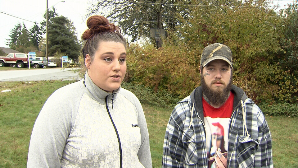 Jessica Persinovic (left) and her partner, James Jamieson, speak to CTV News on Sunday, Nov. 12, 2017.