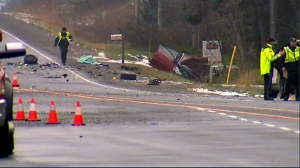 Crash near East Gwillimbury on Highway 48