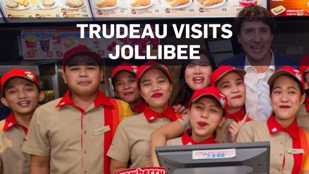 Trudeau snacks at Jollibee in Philippines | CTV News