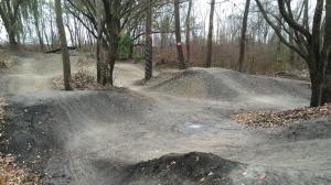Makeshift bike park
