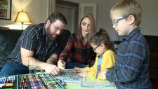 Stephanie Christiansen with husband Nick & 3 kids.
