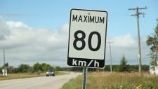 80 kilometers per hour, Ontario