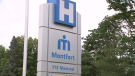The Montfort Hospital sign is seen in this undated photo.