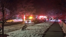 Calgary firefighters on scene of a fire in city's