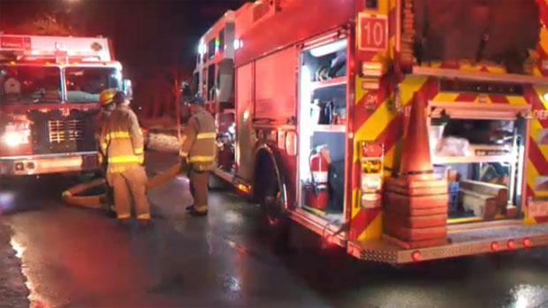 Calgary firefighters remain on scene