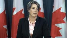 Debi Daviau speaks in Ottawa
