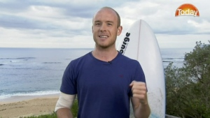 Charlie Fry talks about his shark encounter