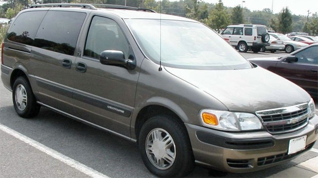 This image of a 2002-2004 Chevrolet Venture is similar to a vehicle Calgary Police hope to locate as part of an investigation into an April 21016 homicide (Courtesy: Calgary Police)