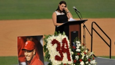 Brandy Halladay, widow of Roy Halladay