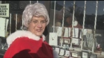Mrs. Claus arrived in Timmins for pre-parade inspection.