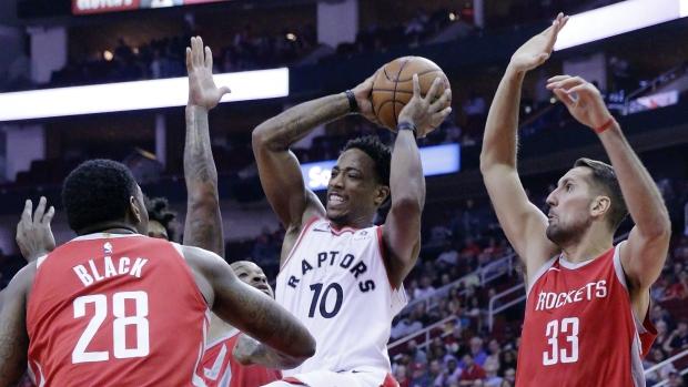DeRozan pushes Raptors to win over Rockets