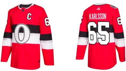 Senators jersey for outdoor game