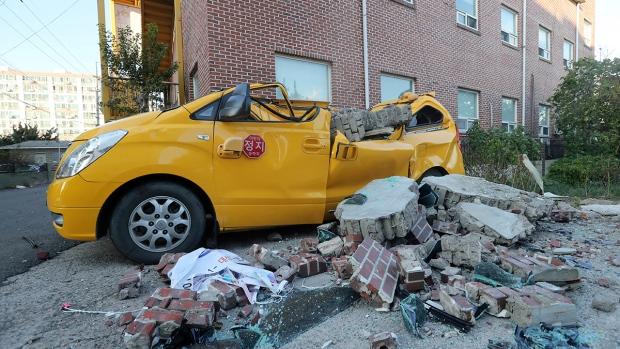 Earthquake causes damage in South Korea