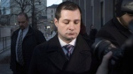 Toronto police officer Const. James Forcillo is shown leaving court in Toronto on Monday, Jan. 25, 2016. THE CANADIAN PRESS/Chris Young