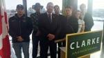 Rob Clarke announces his candidacy for leader of the Saskatchewan Party. (LAURA WOODWARD/CTV SASKATOON)