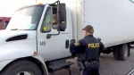 OPP launch transport truck safety blitz
