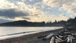 A gorgeous start to the day at Cordova Bay Beach Wednesday morning at 8:15 a.m., following a stormy night. (Astrid Braunshcmidt/CTV Vancouver Island)