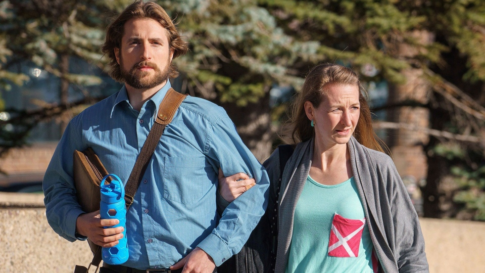 David Stephan and his wife Collet Stephan arrive at court on Thursday, March 10, 2016 in Lethbridge, Alta. THE CANADIAN PRESS / David Rossiter