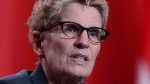 Ontario Premier Kathleen Wynne speaks at the closing news conference at the First Ministers meeting in Ottawa on Tuesday, Oct.3, 2017. (THE CANADIAN PRESS / Sean Kilpatrick)