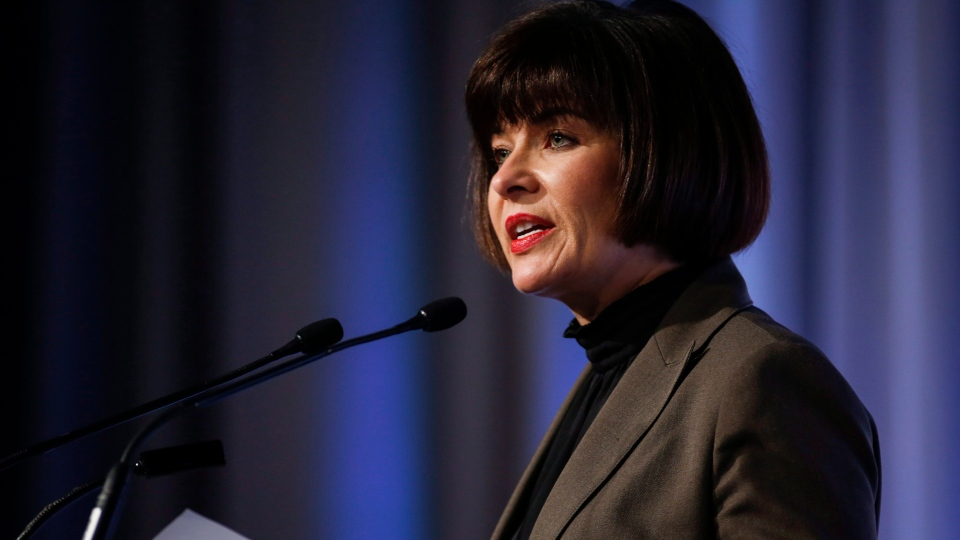 Federal Minister of Health Ginette Petitpas Taylor announces new federal activities to address the opioid crisis during a speech in Calgary, Alta., Wednesday, Nov. 15, 2017. (THE CANADIAN PRESS / Jeff McIntosh)