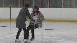 Volunteers help kids learn to skate