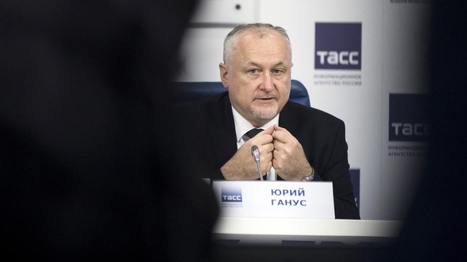 Russian National Anti-doping Agency RUSADA head Yuri Ganus in Moscow, Russia, on Nov. 16, 2017. (Pavel Golovkin / AP)