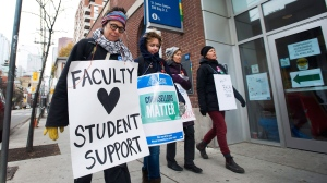 Ontario college teachers strike continues