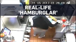Caught on cam: Real-life 'hamburglar'