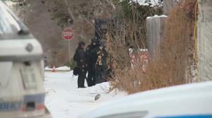 Police presence on Princess Avenue and 13 Avenue in Regina on Nov. 16.