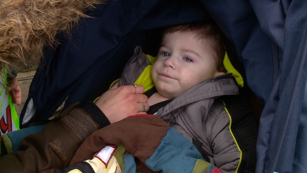 2-year-old Kaiden Sturgeon-Harper on the Hill.