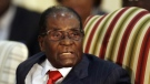 Zimbabwean President Robert Mugabe introduces his cabinet minister during his meeting with South African President Jacob Zuma at the Presidential Guesthouse in Pretoria, South Africa on Oct. 3, 2017. (AP / Themba Hadebe)