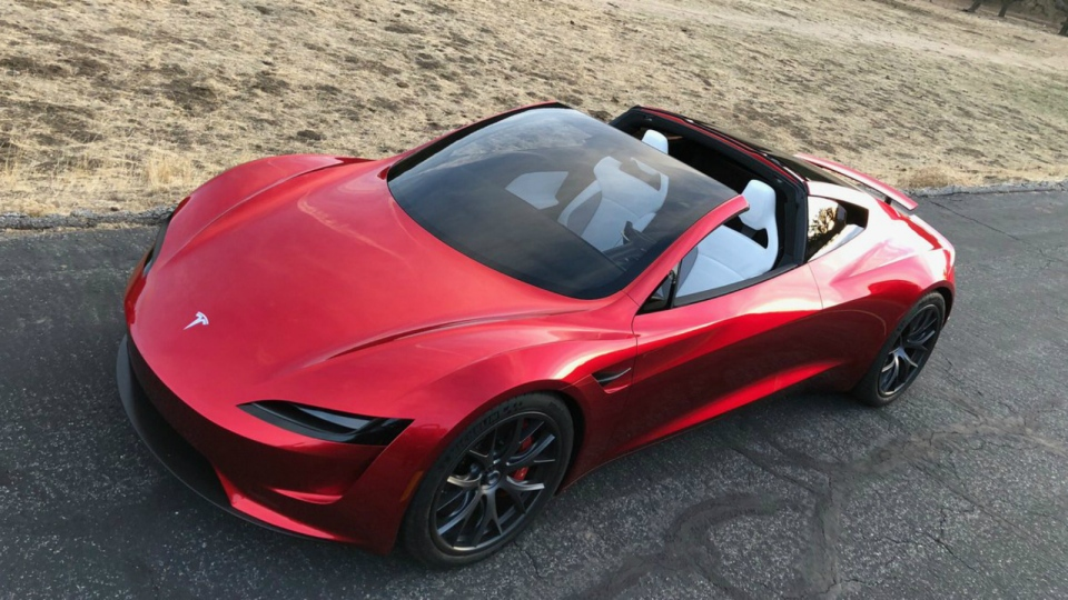 Tesla unveiled its new Roadster on Thursday night. (Twitter)