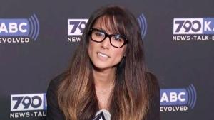 Los Angeles radio anchor Leeann Tweeden at ABC7 studios in Glendale, Calif., on Nov. 16, 2017. (KABC-TV via AP)