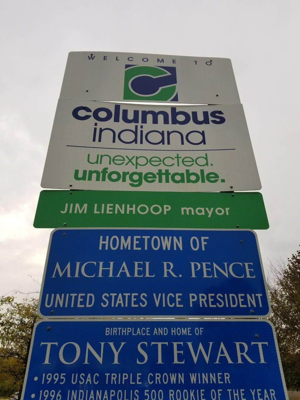 Columbus is the hometown of U.S. Vice President Mike Pence.
