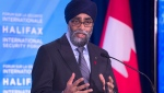 Canadian Defence Minister Harjit Sajjan fields questions at a news conference at the Halifax International Security Forum in Halifax on Friday, Nov. 17, 2017. (Andrew Vaughan / THE CANADIAN PRESS)