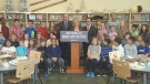 Premier Rachel Notley speaks at Roberta MacAdams School in southwest Edmonton on Friday, November 17, 2017. The province announced plans for a new high school for the area.