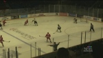 Soo Greyhounds battle North Bay Battalion