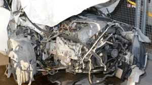The car had extensive front end damage (Source: Brandon Police)