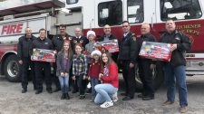 Members of the Kitchener Fire Department donated to Colin's Toy Drive on Friday, Nov. 17, 2017.