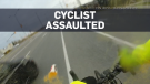 Caught on cam: Drink thrown at cyclist