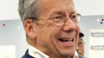 In this Oct. 29, 2010, file photo, William O'Neill, an Ohio appeals court judge selected as the Democratic nominee for U.S. House of Representatives to represent Ohio's 14th District, laughs during a campaign stop at the Democratic party headquarters in Mentor, Ohio. (AP Photo/Amy Sancetta, File)