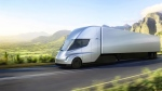 This photo provided by Tesla shows the new electric semitractor-trailer unveiled on Thursday, Nov. 16, 2017. The move fits with Tesla CEO Elon Musk's stated goal for the company of accelerating the shift to sustainable transportation. (Tesla via AP)