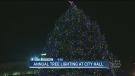 City Hall lights Christmas tree