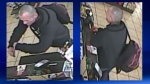 Surveillance camera stills of a man who CPS believe used a senior's bank card following an assault and robbery in a southeast parking lot (CPS)
