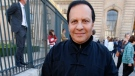 FILE - A Friday, Sept. 26, 2014 file photo of Tunisian-born fashion designer Azzedine Alaia arriving at Christian Dior's Spring/Summer 2015 ready-to-wear fashion collection presented in Paris, France. (AP Photo/Francois Mori, File)