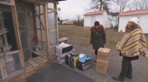 Two women in Saint-Placide are being forced to leave the motel where they've been staying since the spring floods.