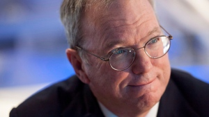 In this file photo, executive chairman of Google, Eric Schmidt, is seen in Toronto on Wednesday, Oct. 1, 2014. (THE CANADIAN PRESS / Hannah Yoon)